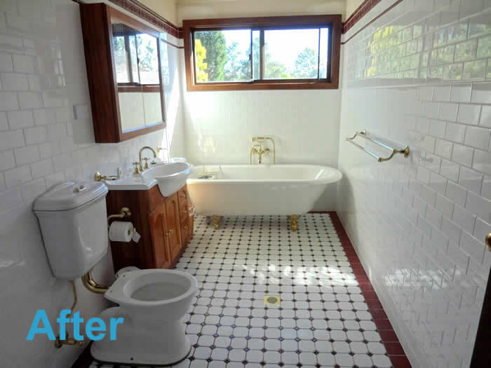 bathroom renovations before after