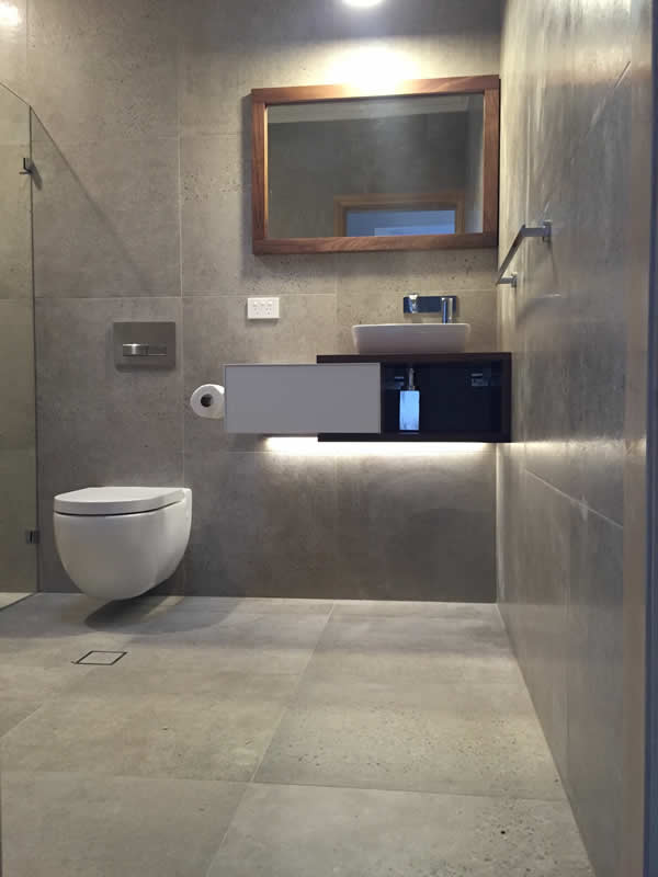 contemporary bathroom renovation